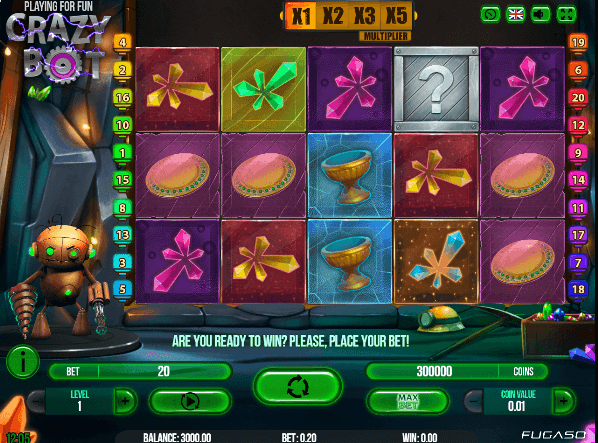 Crazy Bot Slot Machine - Play Fugaso Casino Games Online