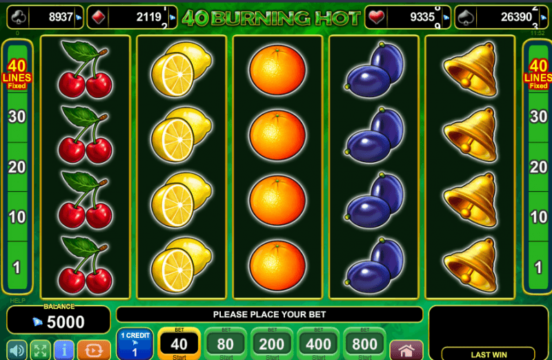 slot games burning hot