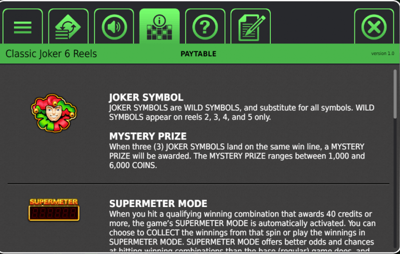 Classic Joker 6 Reels Slot By Stakelogic Review With Casino Links