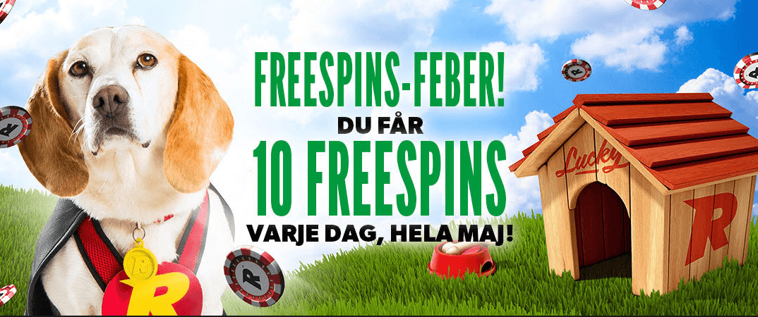 Rizk Casino Rewards Swedish Players with 10 Free Spins with Welcome Bonus until 31st May