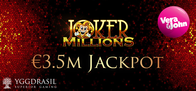 Yggdrasil's Joker Millions Pays Out Major Jackpot to the Lucky Player at Vera&john