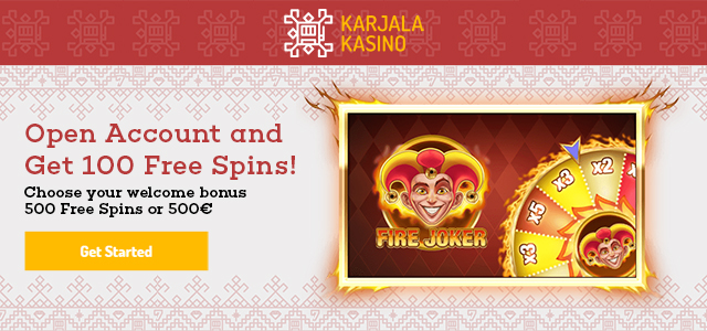Karjala Kasino Welcome Bonus Update