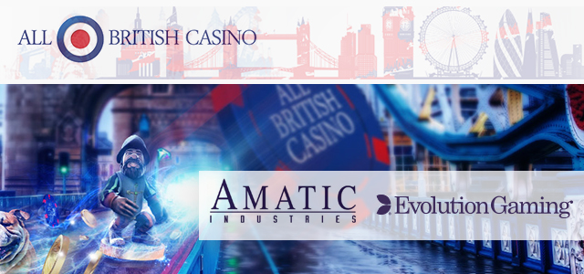 All British Casino Integrates New Providers' Content