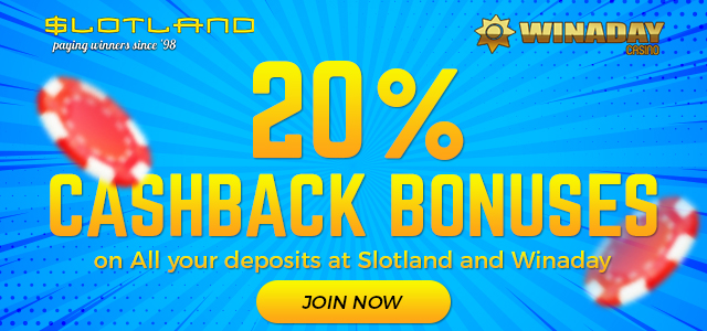 Win A Day and Slotland Casinos Have Given Away $250,000 in Cashback