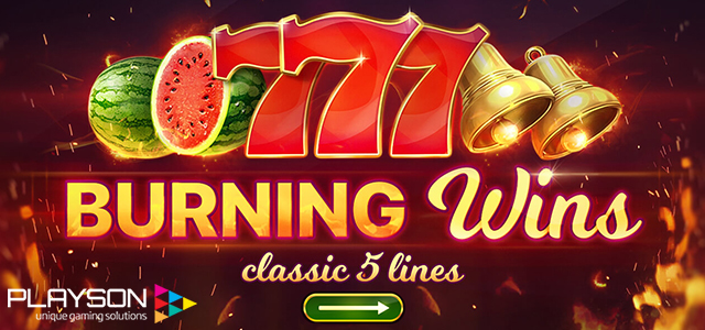 Burning Wins Slot by Playson is Already Live